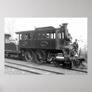 Poster DL+ Locomotiva da inspeção do vapor de W