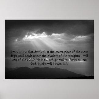 Poster do 91:1,2 do salmo