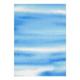 Poster do abstrato da aguarela do céu azul