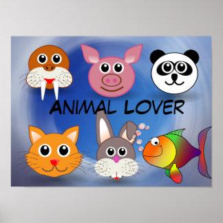 Poster do amante dos animais
