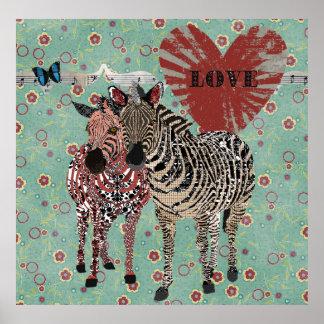 Poster do amor de Zeb & de Zenya Pôster