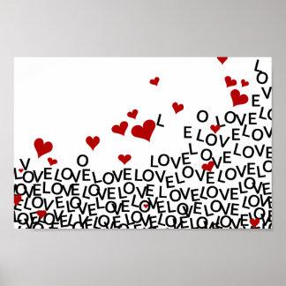 Poster do amor do dia dos namorados