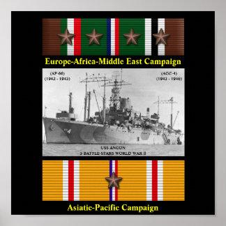 POSTER DO ANCON DE USS (AP-66) (AGC-4)