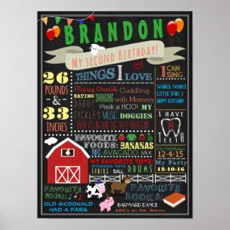 Poster do aniversário do Barnyard segundo Pôster