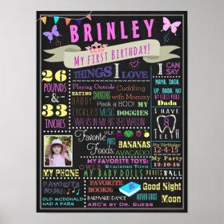 Poster do aniversário do bebé primeiro