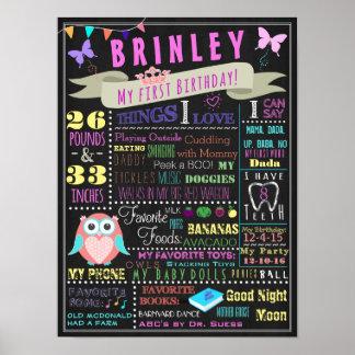 Poster do aniversário do bebé primeiro pôster