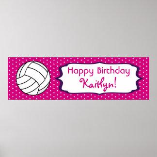 Poster do aniversário do voleibol pôster