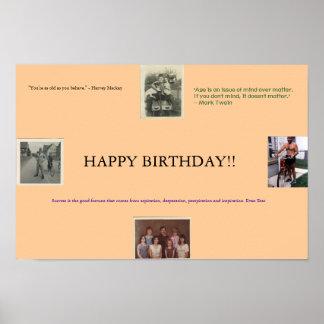 Poster do aniversário pôster