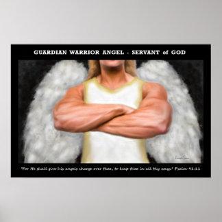 Poster do anjo do guerreiro do guardião
