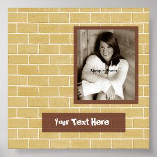 Poster do autógrafo da graduação da foto do tijolo