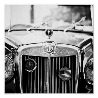 Poster do carro vintage