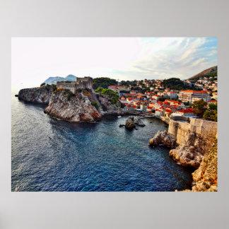Poster do castelo de Dubrovnik, Croatia