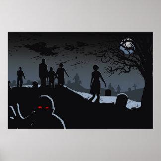 Poster do cemitério do zombi pôster