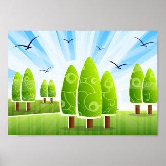 Poster do cenário da paisagem