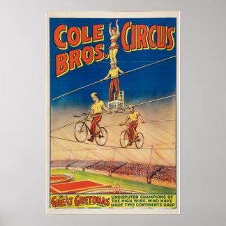 Poster do circo dos irmãos do Cole
