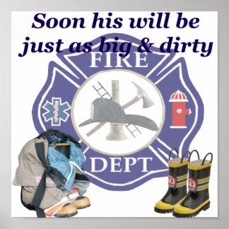 Poster do departamento do fogo dos miúdos