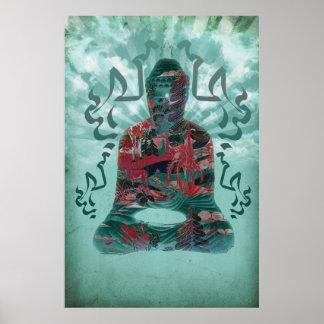 Poster do design da natureza de Budddha