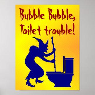 Poster do Dia das Bruxas engraçado