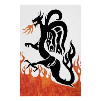 Poster do dragão do fogo poster perfeito