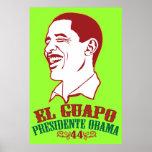 Poster do EL Guapo Presidente Obama Pôster