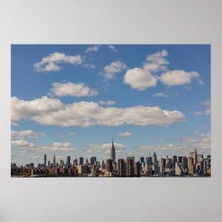 Poster do Empire State Building da skyline da Nova