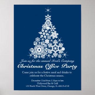 Poster do escritório da árvore da festa natalícia
