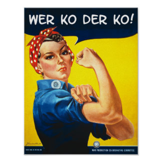Poster do escritório da guerra do vintage do rebit