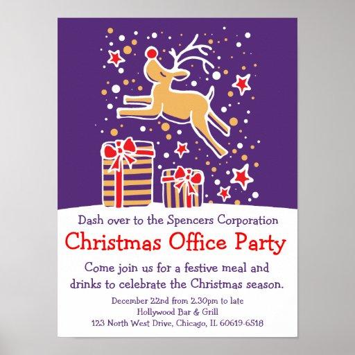 Poster do escritório de festa natalícia do Natal