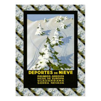 Poster do esqui do vintage da réplica, Picos de Cartão Postal
