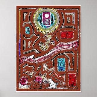 Poster do Expressionism abstrato do mercado da