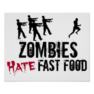 Poster do fast food do ódio dos zombis pôster
