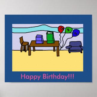 Poster do feliz aniversario pôster