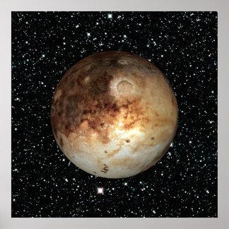 Póster ~ do fundo da estrela de PLUTO do PLANETA (sistema