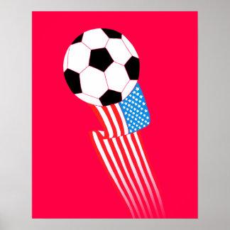 Poster do futebol: EUA vermelhos