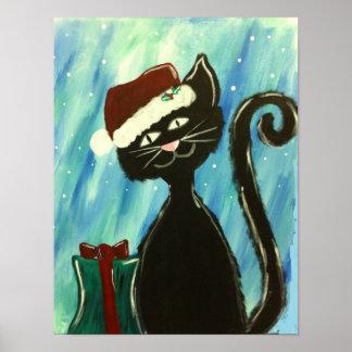 Poster do gatinho do Natal Pôster
