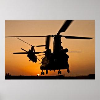 POSTER DO HELICÓPTERO DE CH-47 CHINOOK