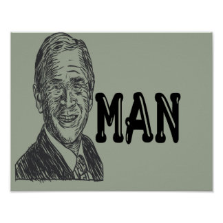 Poster do homem de Bush