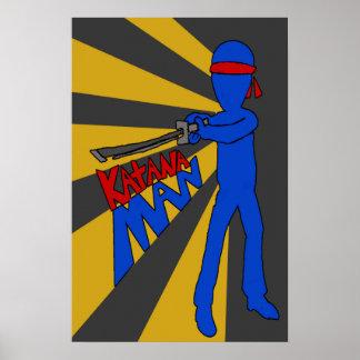 Poster do homem de Katana