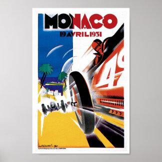 Poster do impressão da arte do vintage do carro de