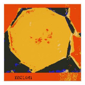 Poster do impressão das belas artes do melão poster perfeito