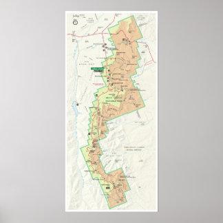 Poster do mapa da garganta de Bryce Pôster