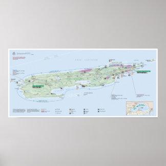 Poster do mapa de Royale da ilha (Michigan) Pôster