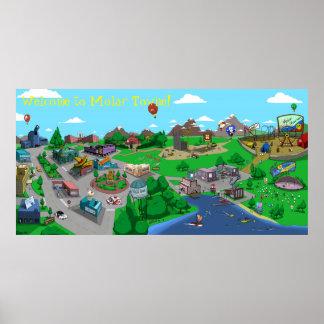 Poster do mapa de Towne® do Molar Pôster