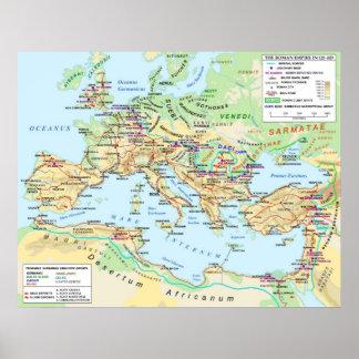 Poster do mapa do império romano pôster