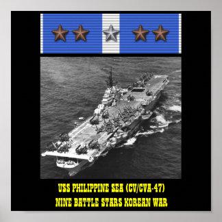POSTER DO MAR FILIPINO DE USS (CV/CVA-47)