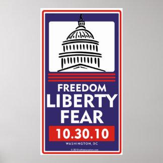 Poster do medo da liberdade da liberdade