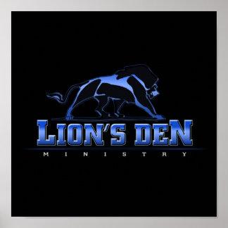 Poster do ministério do antro dos leões