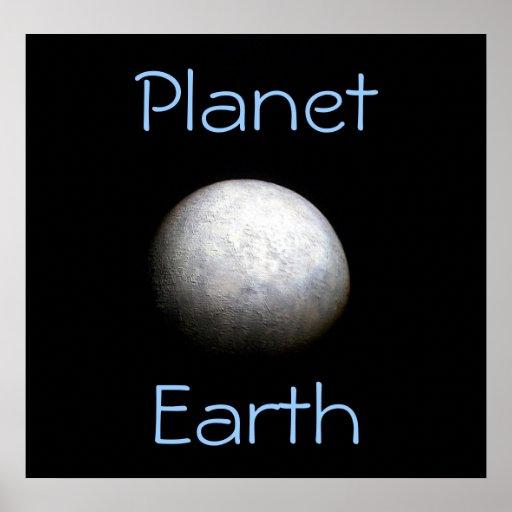 Poster do modelo de terra do planeta