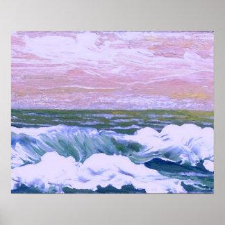 Poster do oceano de CricketDiane - chamada do mar