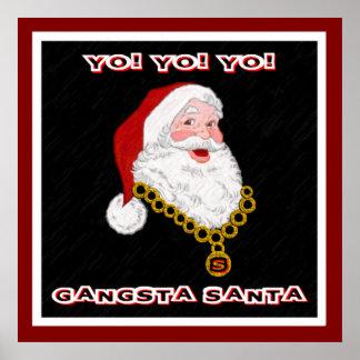 Poster do papai noel de Gangsta